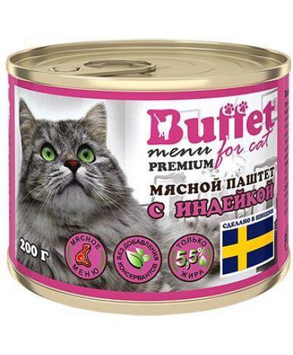 Buffet консервы для кошек мясной паштет 200 гр