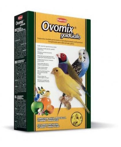 Padovan OVOMIX GoldGiallo  дополнительный корм для  птиц желтого окраса  в период линьки 300 гр
