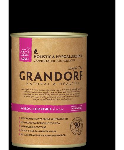 Grandorf влажный корм для собак банка 400 гр*