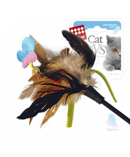 GiGwi Дразнилка на стеке с бабочкой 51 см