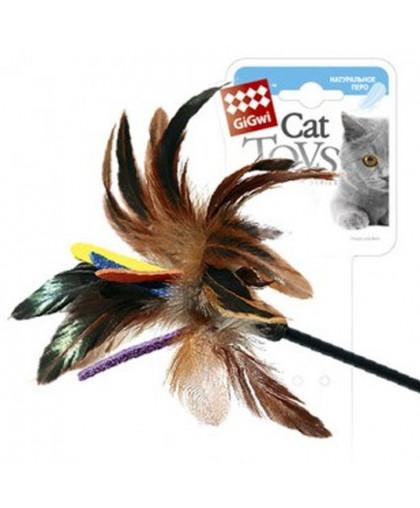 GiGwi Дразнилка для кошек цветное перо 51 см