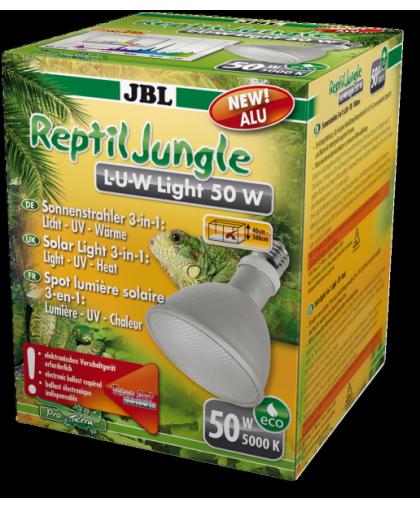 Широкоугольная спот-лампа полного солнечного спектра JBL ReptilJungle L-U-W Light alu 50W