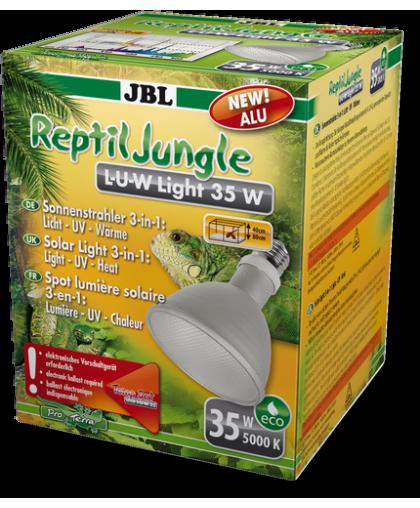 Широкоугольная спот-лампа полного солнечного спектра JBL ReptilJungle L-U-W Light alu 35W