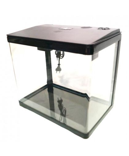 Аквариум PRIME 33 л черный с LED светильником фильтром и кормушкой 004822