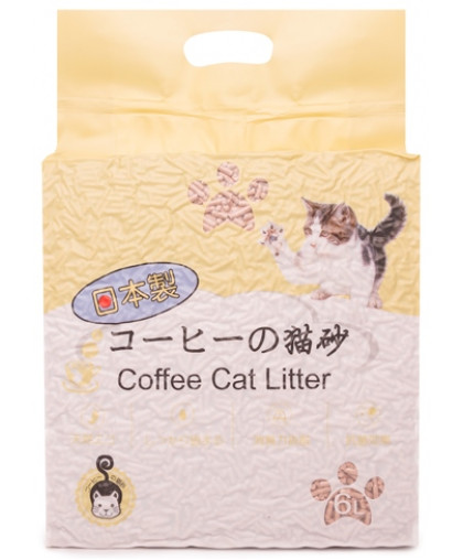 Hakase Arekkusu наполнитель комкующийся кофе