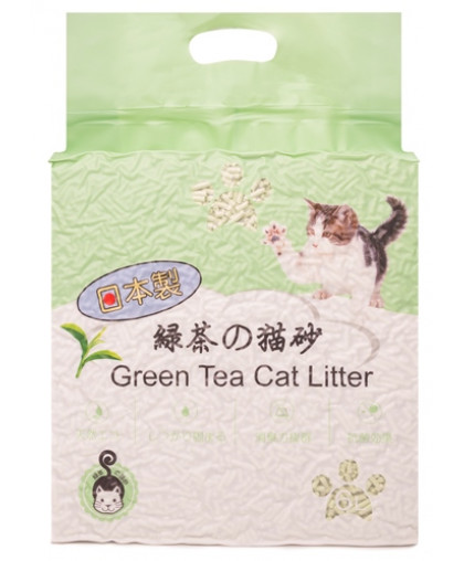 Hakase Arekkusu наполнитель комкующийся зеленый чай