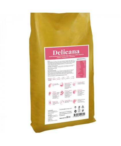 Delicana сухой корм для собак крупных пород говядина с овощами