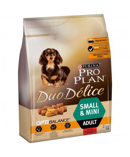 Pro Plan для собак мелких пород DUO DELICE SMALL Говядина 2,5 кг*