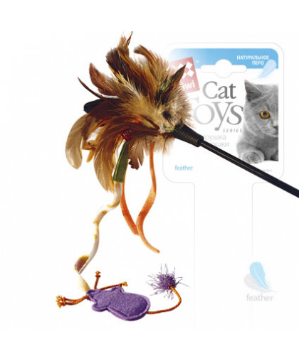 GiGwi Дразнилка с мышкой на стеке 51 см