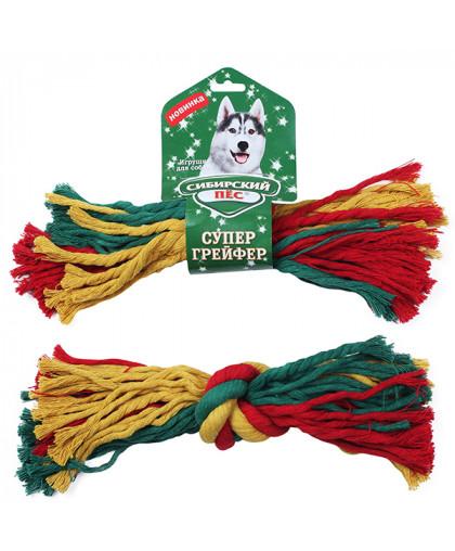 """Грейфер """"Сибирский пес"""" цветная веревка 1 узел D 30/320 мм"""