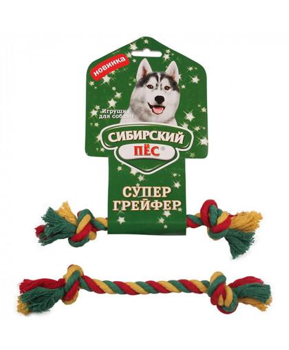 """Грейфер """"Сибирский пес"""" цветная веревка 2 узла D 10/170 мм"""
