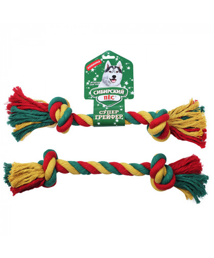 """Грейфер """"Сибирский пес"""" цветная веревка 2 узла D 30/450 мм"""