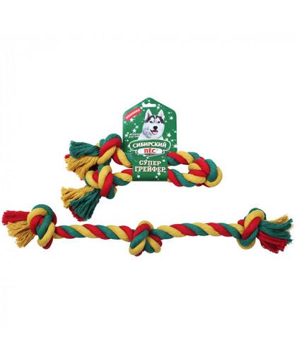 """Грейфер """"Сибирский пес"""" цветная веревка 3 узла D 30/560 мм"""