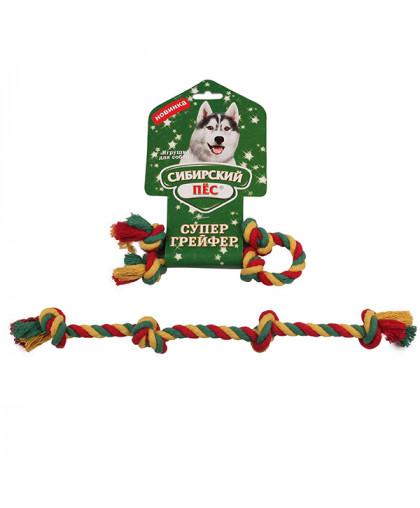 """Грейфер """"Сибирский пес"""" цветная веревка 4 узла D 10/350 мм"""