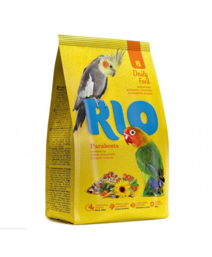 RIO Корм для средних попугаев  (основной рацион), 500/1000гр.