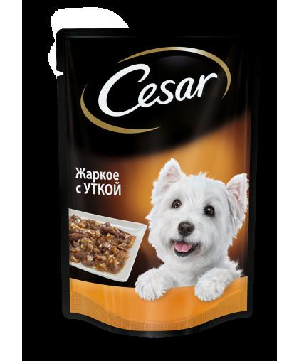 Cesar Влажный корм для взрослых собак жаркое с уткой, пауч 85гр