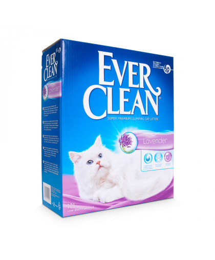 Ever Clean Lavender наполнитель комкующийся для кошачьего туалета с нежным, ненавязчивым ароматом лаванды.