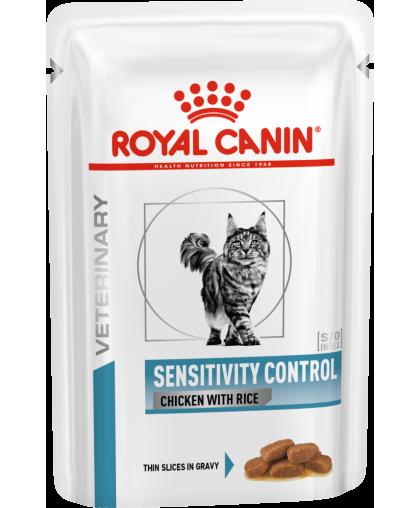 Royal Canin Sensitivity control Chicken S/O кусочки в желе для кошек с пищевой аллергией c курицей, 85 гр пауч*