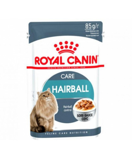 Royal Canin Hairball Care корм для взрослых кошек в соусе 85 гр*