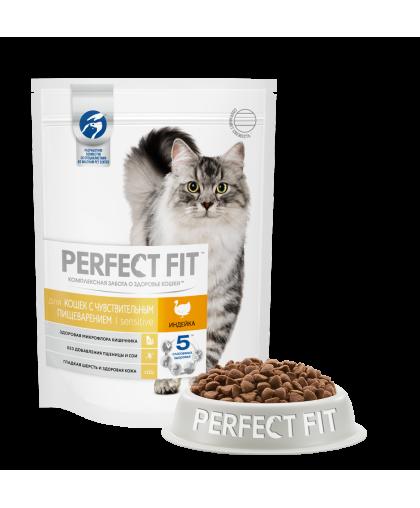 Perfect Fit Sensitive Turkey корм для кошек с чувствительным пищеварением индейка