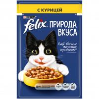 Felix Влажный корм  Природа вкуса для взрослых кошек, Пауч, 85г