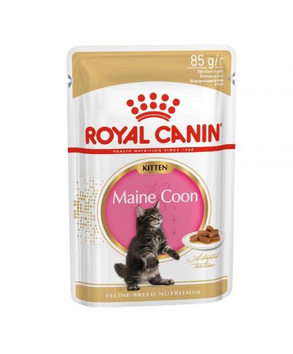 Royal Canin Maine Coon Kitten Влажный корм для котят породы мейн-кун в возрасте до 15 месяцев пауч 85 гр