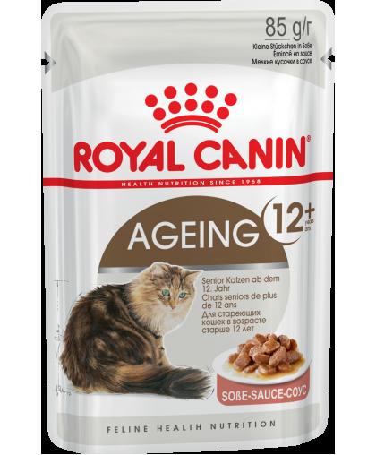 Royal Canin Ageing 12+  Влажный корм для кошек старше 12 лет в  желе/в соусе пауч 85 гр