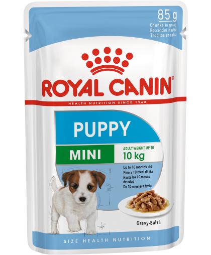 Royal Canin Mini Puppy влажный корм для щенков мелких пород в возрасте c 2 до 10 месяцев пауч 85 гр