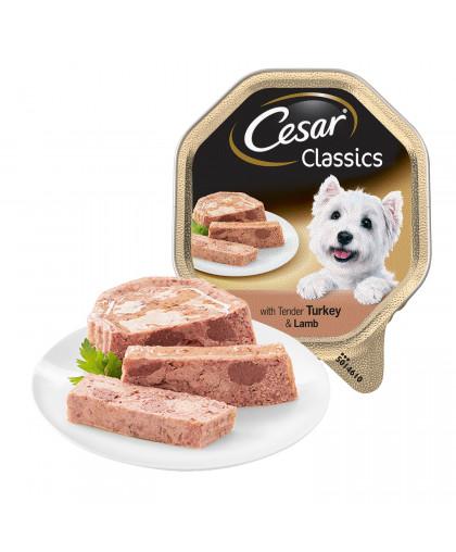 Cesar влажный корм для собак с нежной индейкой и ягненком, 150 гр
