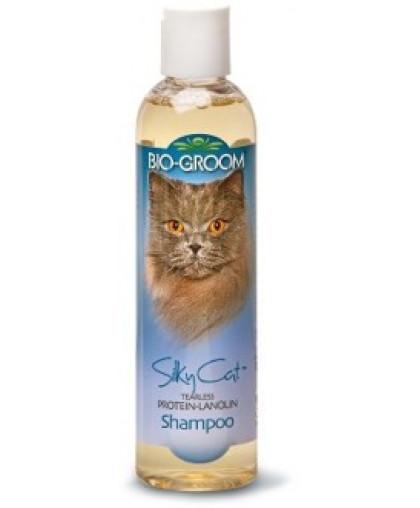 Bio-Groom Silky Cat Shampoo кондиционирующий шампунь для кошек с протеином и ланолином 237 мл
