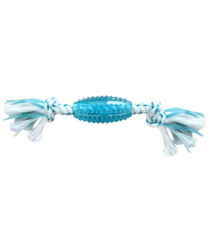 CanineClean игрушка для собак Регби и 2 кольца нейлон/синтетическая резина 39 см с ароматом мяты