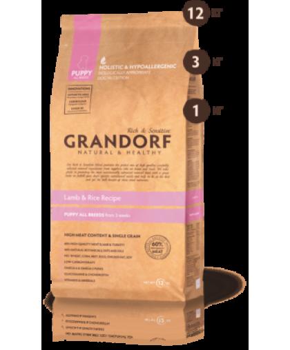 Grandorf Lamb & Rice Recipe Puppy All Breeds корм для щенков Ягненок/Рис