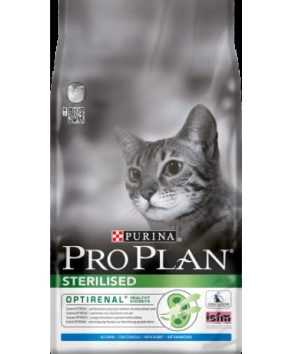 Pro Plan Сухой корм для стерилизованных кошек и кастрированных котов, с кроликом