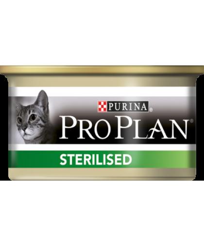 Pro Plan Влажный корм  для стерилизованных кошек и кастрированных котов с тунцом, Банка, 85 г