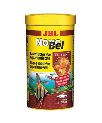 JBL NovoBel Корм основной в форме хлопьев для всех аквариумных рыб, 250мл. (40г)