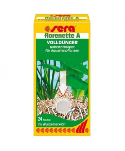 Подкормка для аквариумный растений SERA Флоренетте А, 24 таб.