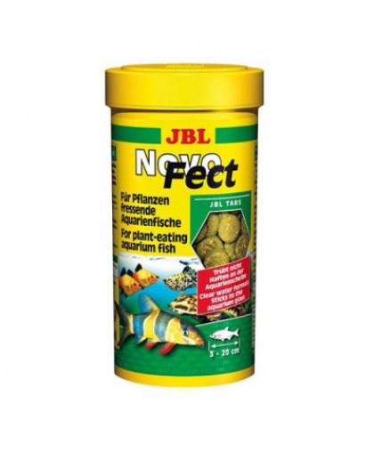 JBL NovoFect Корм   в форме таблеток для растительноядных рыб 100мл (160шт)