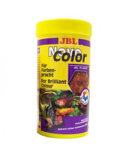 JBL NovoColor Корм основной в форме хлопьев для особенно яркой окраски рыб, 250мл. (40г)