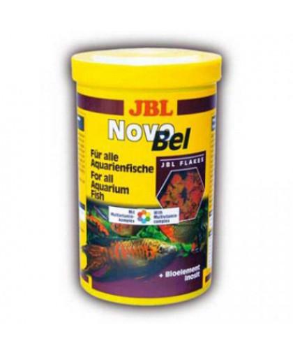 JBL NovoBel Корм основной в форме хлопьев для всех аквариумных рыб 1000мл. (160г)