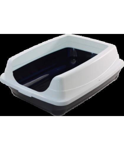 GAMMA Туалет для кошек прямоугольный с высоким бортом 46*35*23 см