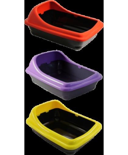 GAMMA Туалет для кошек прямоугольный с асимметричным бортом 46*35*2 см