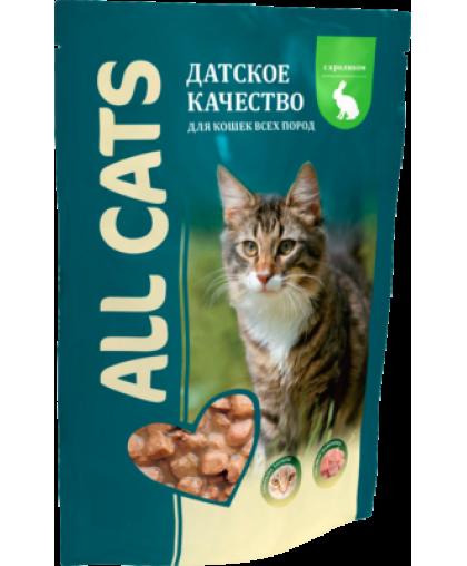 All Cats корм для кошек Кролик пауч 85 гр
