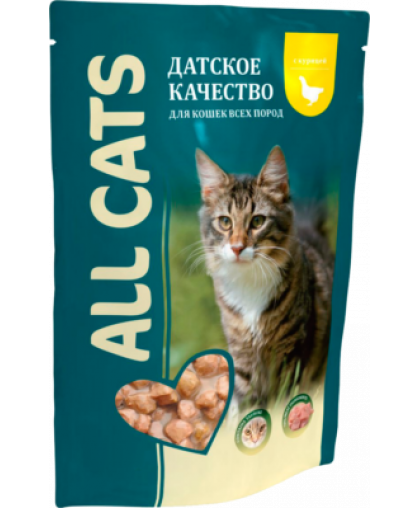 All Cats корм для кошек Курица пауч 85 гр