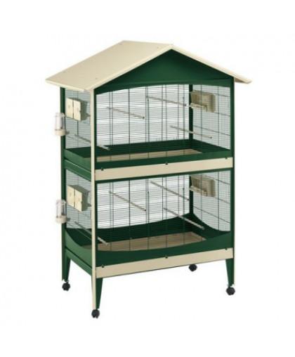 Вольер для птиц FERPLAST DUETTO коричневый 119,5x75x169,5см