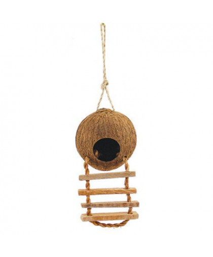 Домик для птиц TRIOL из кокоса с лестницей, 450мм