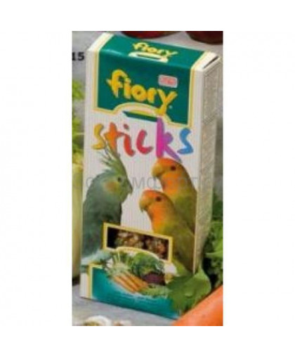 FIORY Лакомство для птиц Палочки для средних попугаев с овощами 120г