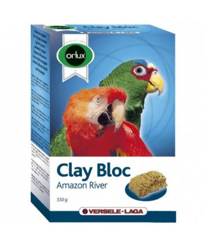 Минеральный блок для птиц VERSELE-LAGA Orlux Clay Bloc Amazon River для крупн.попугаев,с глиной 550г