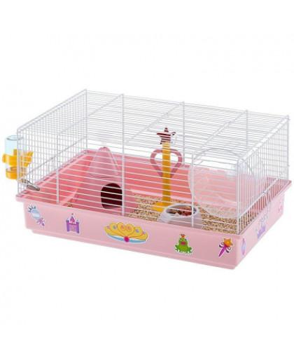 Клетка для грызунов FERPLAST Criceti 9 Princess для хомяков 46х30х23см белая