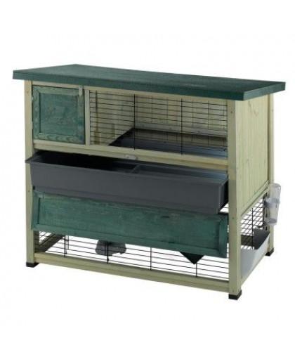 Клетка для грызунов FERPLAST RANCH 120 PLUS для содержания кроликов на улице, деревянная 117x69x101см