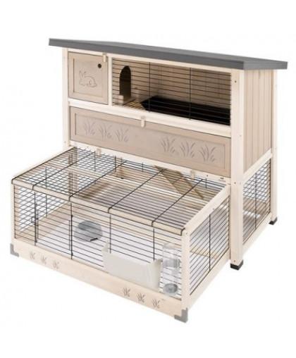 Клетка для грызунов FERPLAST Ranch 120 Max для содержания кроликов на улице, деревянная 117х69х107см